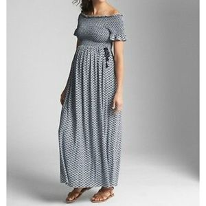 GAP Maternity off-shoulder maxi dress